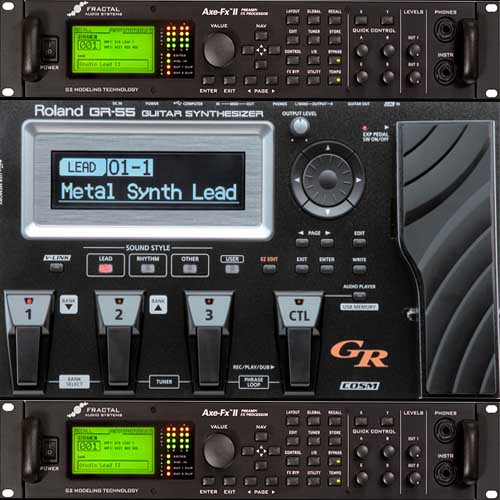 Les expériences interdites : Roland GR55 + Axe FX 2 = Rolaxe FX 55 (en audio et en video)