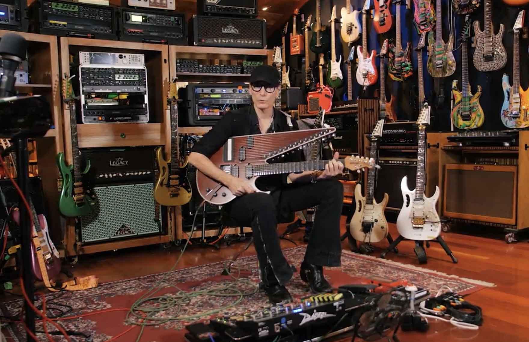 Vidéo de la semaine... Steve Vai nous présente sa collection de guitares...