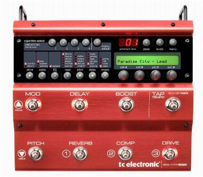 """TC Electronic Nova System \""""limited edition\"""", la petite boîte (rouge) qui monte..."""