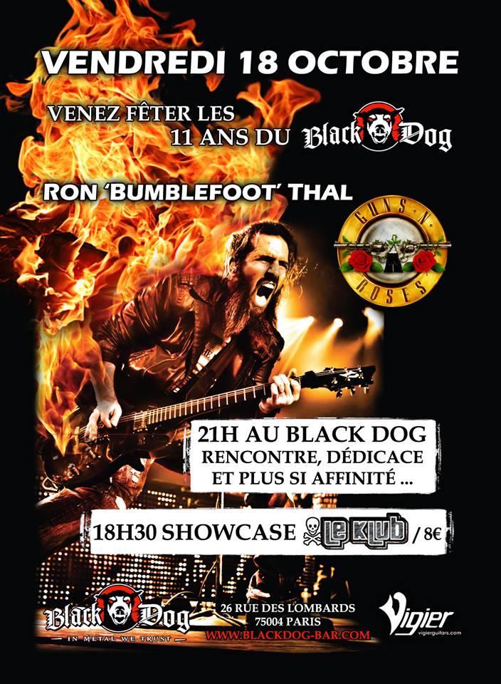 Ron Thal en showcase à Paris le 18 octobre 2013...